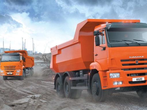 Лендинг по продаже грузовых автомобилей КАМАЗ